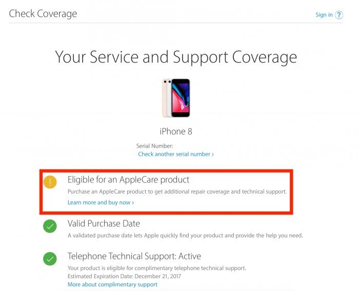 AppleCare az Apple honlapján