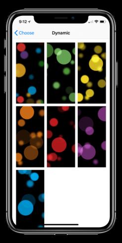 iPhone X dinamikus háttérképek