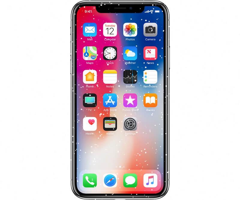 iPhone X kijelző nem reagál