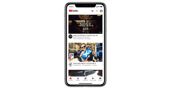 YouTube meríti az iPhone-t