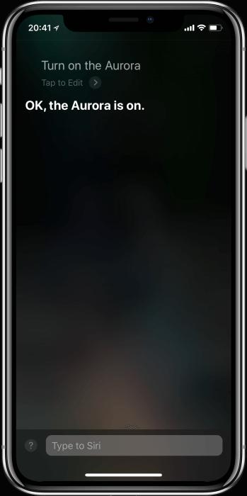Siri és a Nanoleaf Aurora
