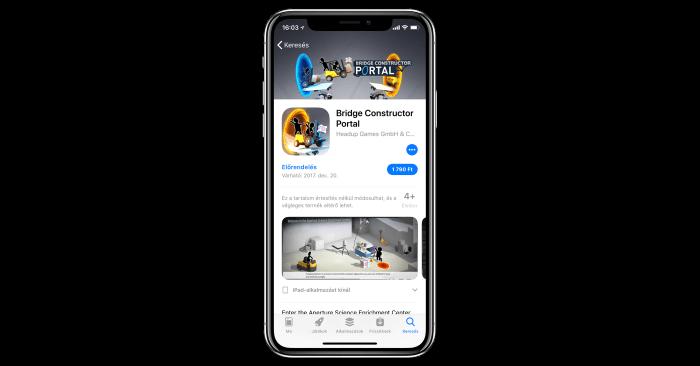 App Store előrendelés