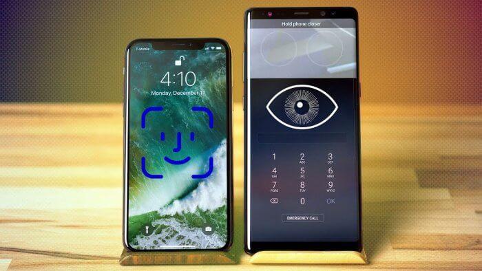 iPhone X vagy a Galaxy Note 8 arcleolvasója a jobb?