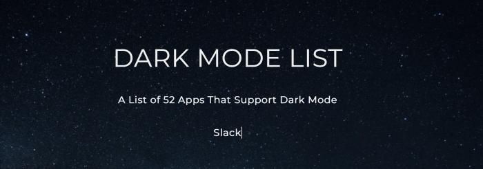 Dark Mode-dal rendelkező alkalmazások listája