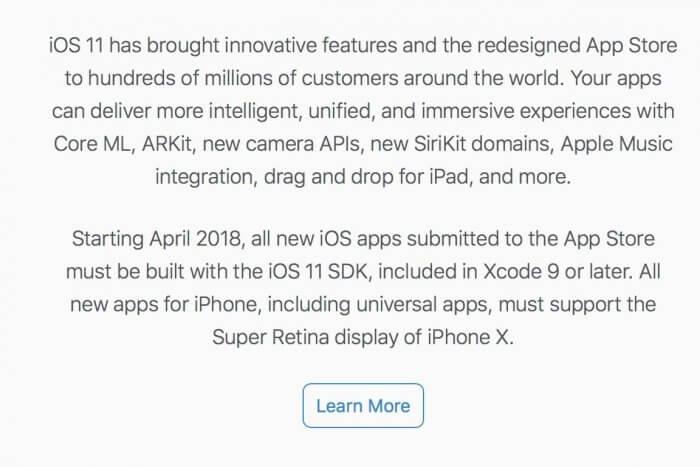Apple iPhone X frissítés
