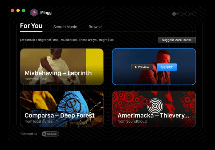 iRingg alkalmazás – csengőhang iPhone-ra