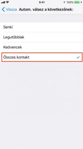 Automatikus üzenetküldés iPhone-on