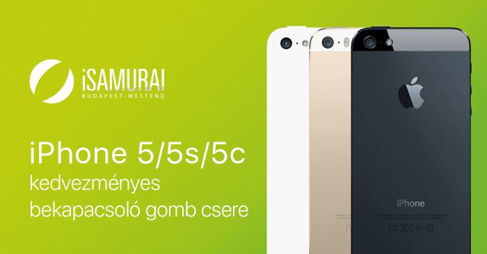 iSamurai – iPhone 5/5s/5c kedvezményes bekapcsoló gomb csere