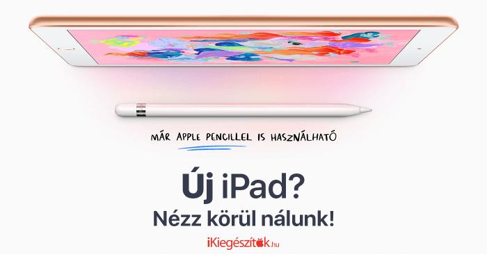 2018 iPad kiegészítők, tokok, fóliák