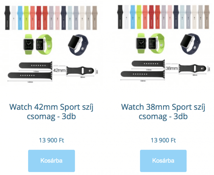Apple Watch Sport szíj csomag