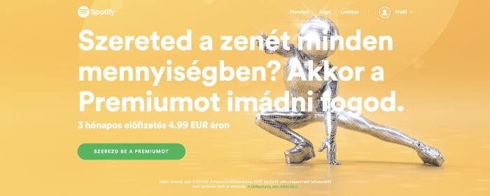 Spotify Premium akció