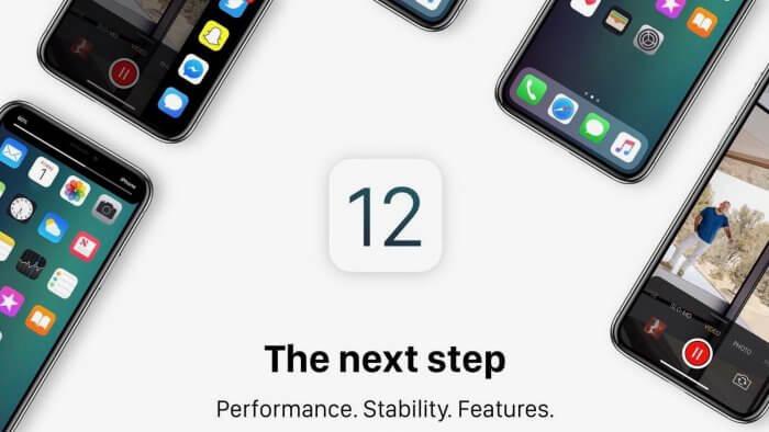 iOS 12 koncepció