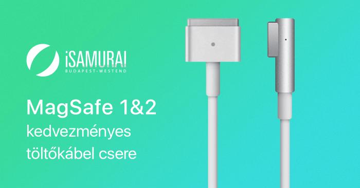 Kedvezméynes MagSafe 1™ töltőkábel csere az iSamuraiban
