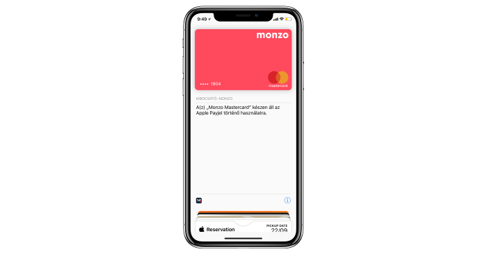 Monzo Apple Pay