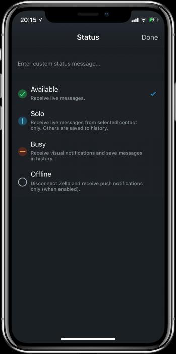 Zello - digitális walkie talkie iPhone-ra