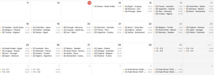 Foci VB iPhone naptár