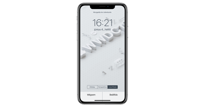WWDC18 mozgó háttérkép