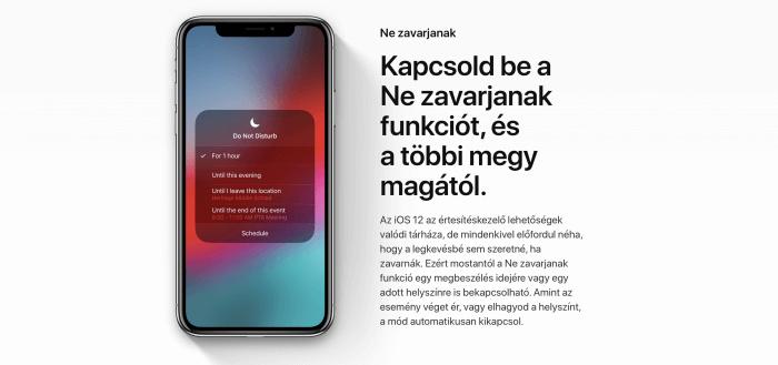 iOS 12 Ne zavarjanak