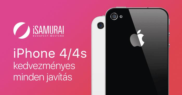 iPhone 4/4s minden javítás fél áron