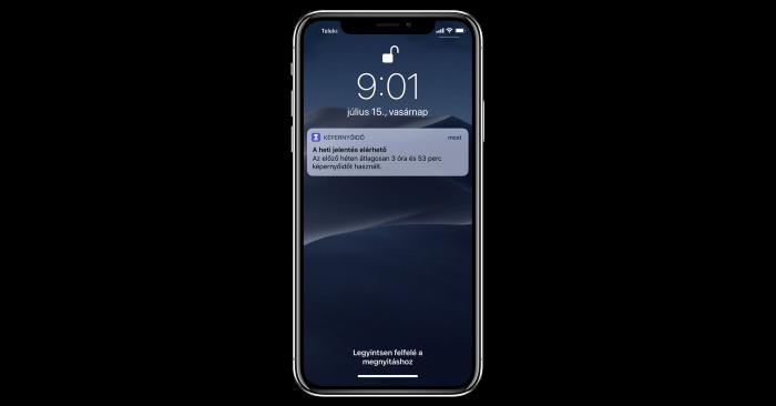 iOS 12 Képernyőidő