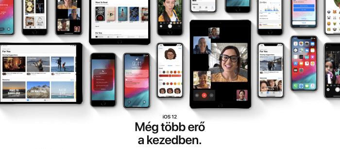 iOS 12 telepítés, tippek, információk, frissítés