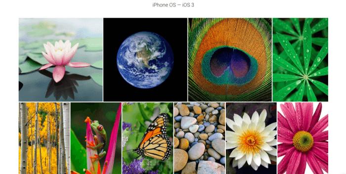 iOS háttérképek