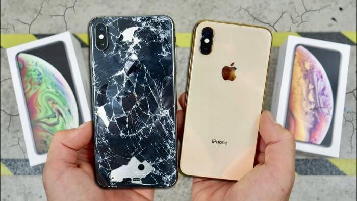iPhone XS, XS Max törésteszt