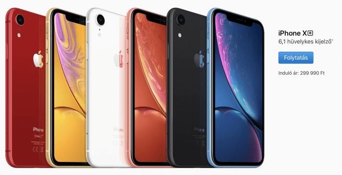 iPhone XR színek