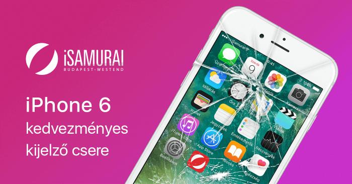 iSamurai – iPhone 6 kedvezményes kijelző csere borítókép