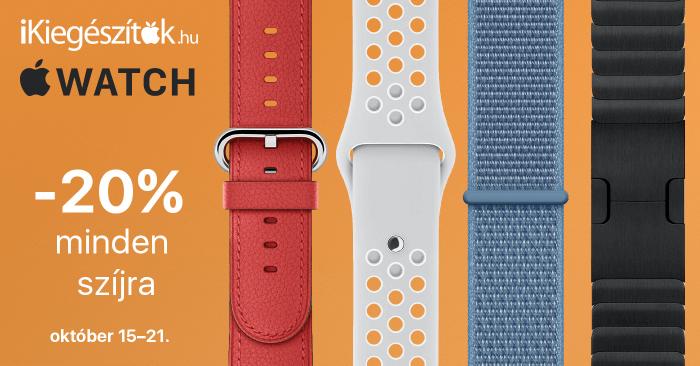 20% kedvezmény minden Apple Watch szíjra az iKiegészítőknél