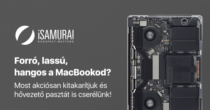 iSamurai – őszi MacBook hardeveres karbantarási akció