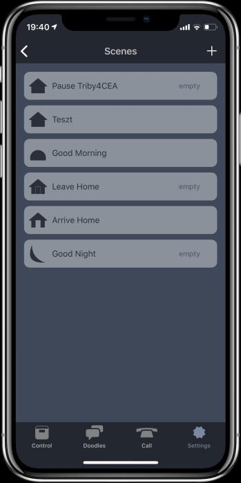 Triby HomeKit képernyőfotó