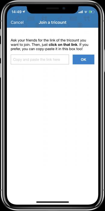 Tricount képernyőfotó
