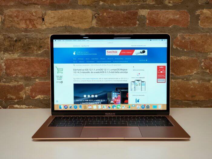 MacBook Air 2018 teszt, vélemény