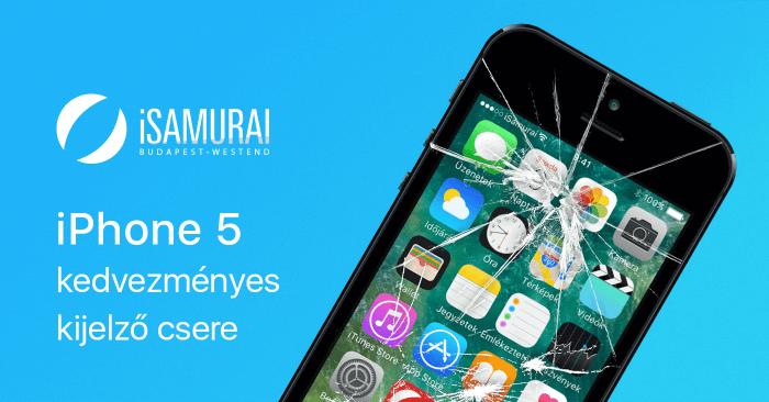 iSamurai – iPhone 5 kedvezményes kijelző csere