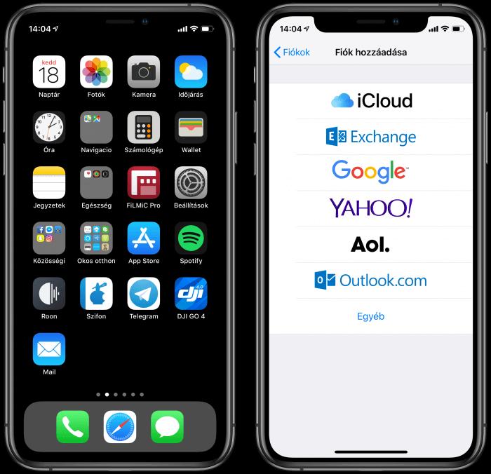 Email beállítása az iPhone-on, iPaden