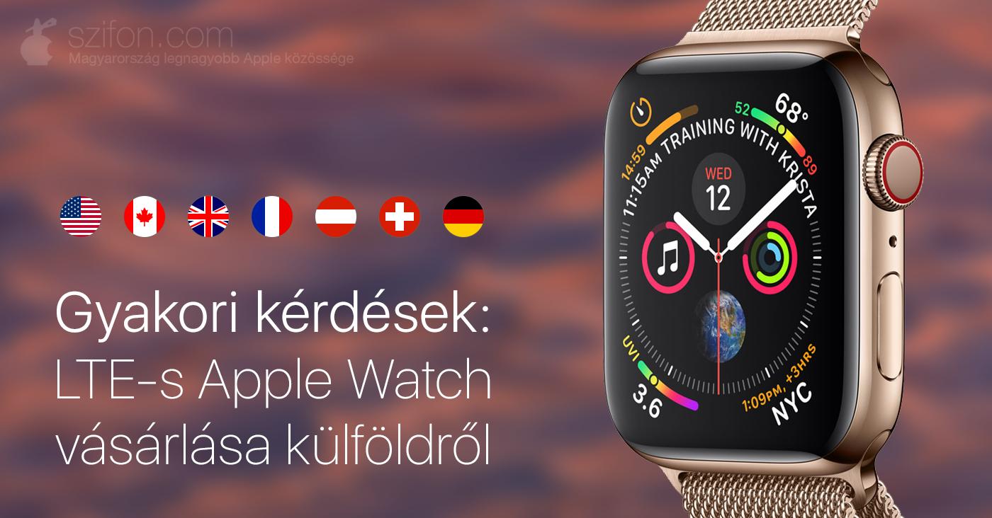 dbc930131d Ebben a cikkünkben az LTE-s Apple Watch modellekre vonatkozóan szedtük  össze a legfontosabb tudnivalókat a külföldi beszerzés előnyei és hátrányai  kapcsán.