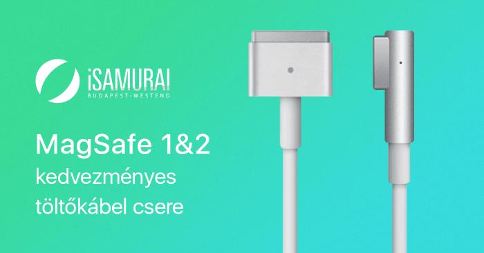 iSamurai – MagSafe 1&2 kedvezményes töltőkábel csere