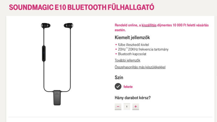 SoundMAGIC E10BT Telekom