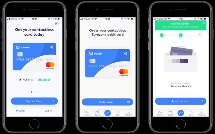 Monese Apple Pay kártya magyar cím