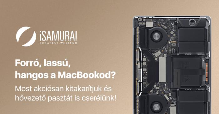 iSamurai – MacBook kedvezményes hardveres karbantartás