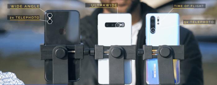 Huawei P30 Pro vs Samsung S10 Plus vs iPhone XS Max kamera teszt