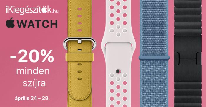 20% kedvezmény minden Apple Watch szíjra az iKiegészítők.hu-nál