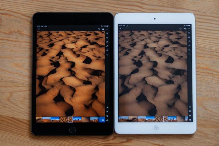 iPad mini 2 és 5 kijelzője közti színkülönbség