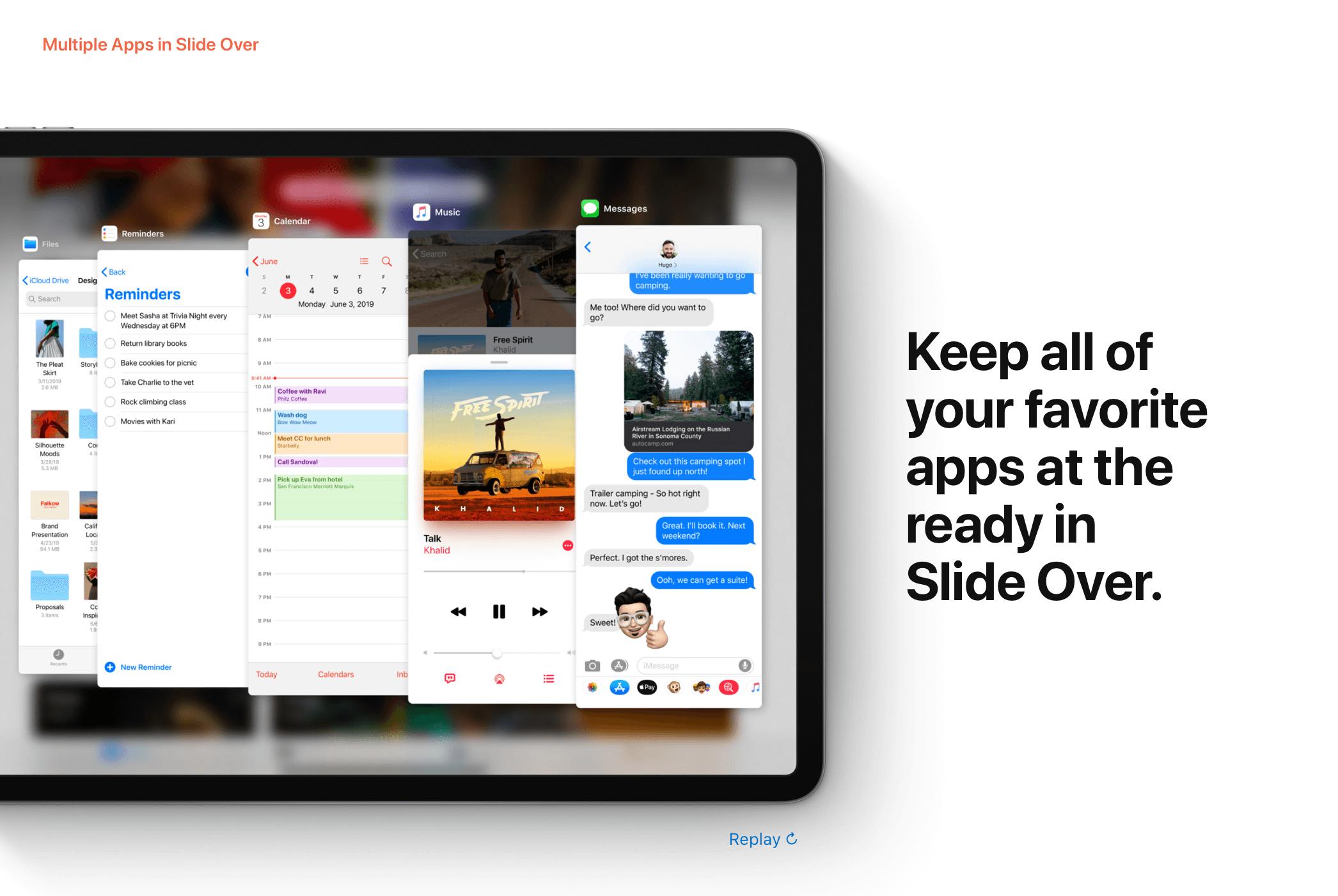 7fde28355a A Slide Over nézet esetén már nem csak a legutóbb használt alkalmazáshoz  férhetünk hozzá, hanem akár az azelőttiekhez is, ezáltal a megjelenő appok  között ...