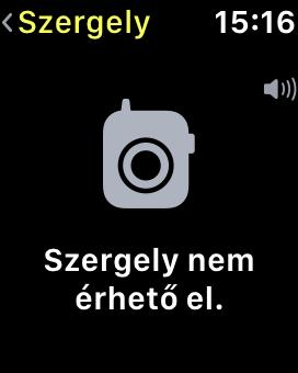 Adó-vevő app, kontakt nem érhető el üzenet a kijelzőn