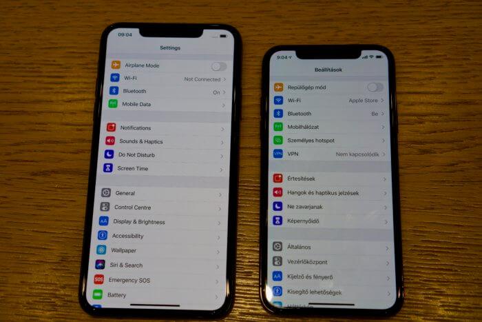 iPhone 11 Pro színhelyesség