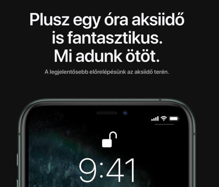 iPhone 11 Pro akkumulátor teszt