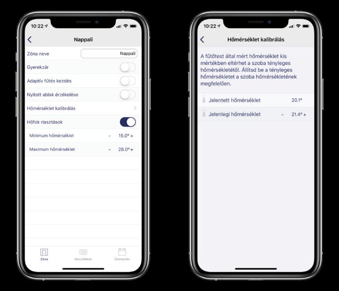 Adax neo WiFi okos iOS alkalmazás