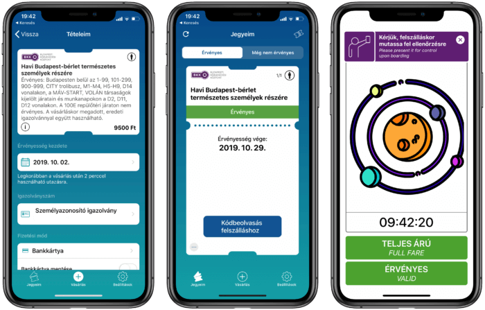 Mobil applikáció jegyvásárlás